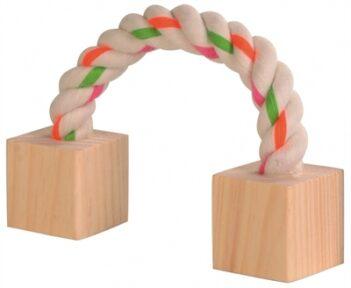 Trixie speeltouw met hout (20 CM)