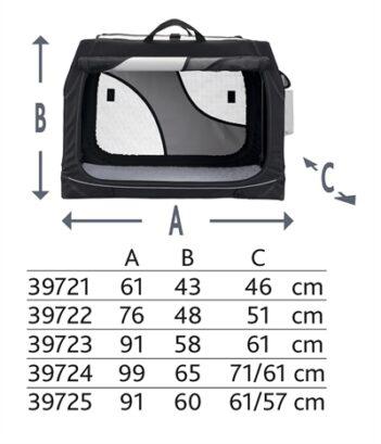 Trixie reismand vario dubbel zwart / grijs (91X60X61/57 CM)