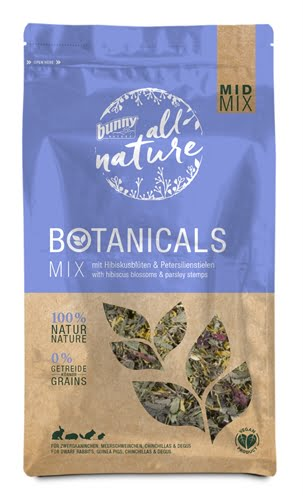 Bunny nature botanicals midi mix hibiscusbloesem / peterselie stelen (150 GR)