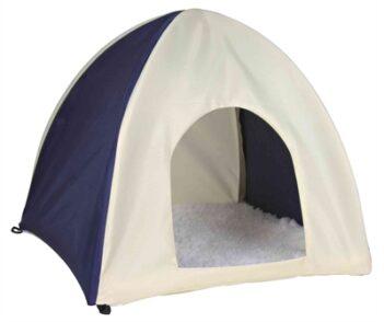 Trixie knaagdierhuis wigwam nylon donkerblauw / beige (37X37X35 CM)
