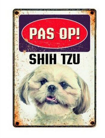 Plenty gifts waakbord blik shih tzu (15X21 CM)