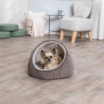 Trixie kattenmand iglo livia grijs / creme (55X55X45 CM)