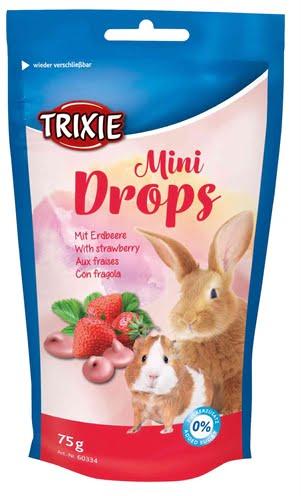 Trixie mini drops aardbei (75 GR)
