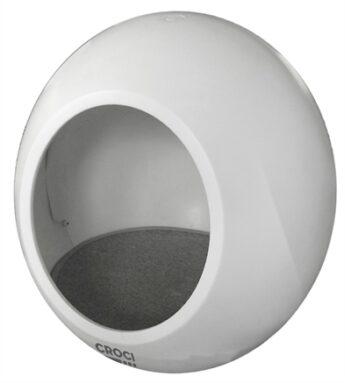 Croci kattenmand huis domus wit (43X43X45,5 CM)