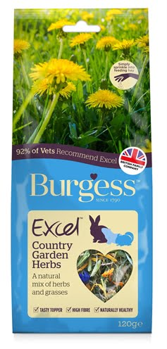 Burgess excel snacks country garden kruiden (120 GR)