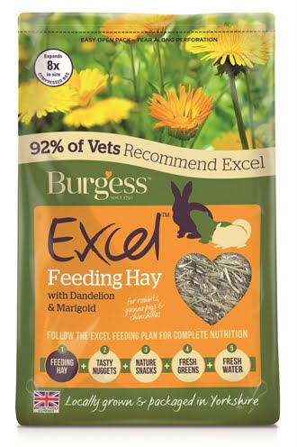 Burgess excel feeding hay paardenbloem en goudsbloem (1 KG)