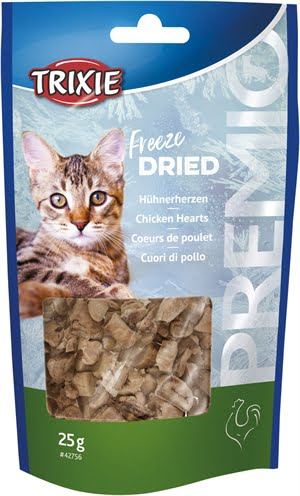 Trixie premio freeze dried kippenharten (25 GR)