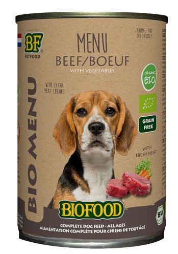 Biofood organic hond rund menu blik (12X400 GR)