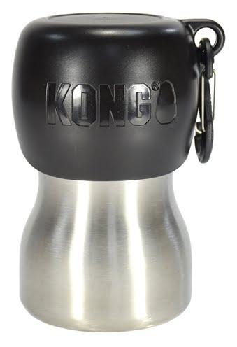 Kong h2o drinkfles rvs zwart (280 ML)