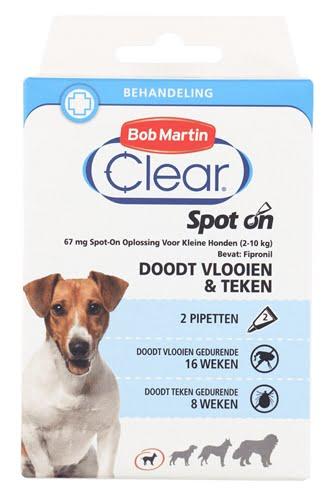 Bob martin clear spot on hond small (2 PIPETTEN)