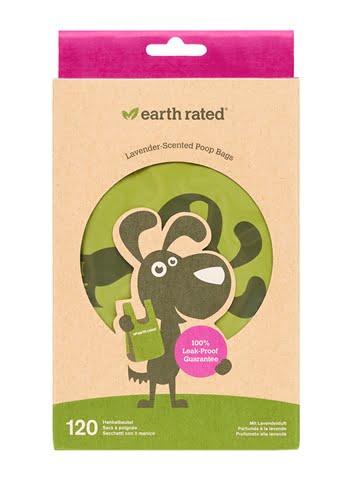 Earth rated poepzakjes met handvaten lavendel (120 ST)