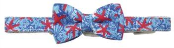 Croci halsband hond reef print blauw / rood (25X1 CM)