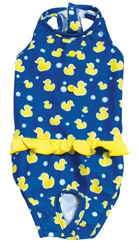 Croci zwempak moby duck blauw / geel (30 CM)
