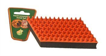 Boon rubber massageborstel oranje / zwart (13 CM)