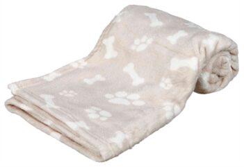 Trixie hondendeken kenny fleece bot / pootjes beige (75X50 CM)