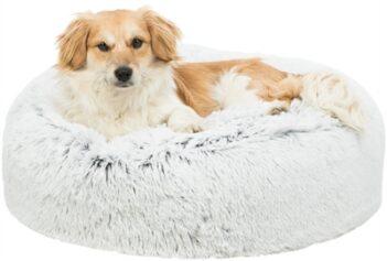 Trixie hondenkussen harvey rond wit / zwart (60X60X18 CM)