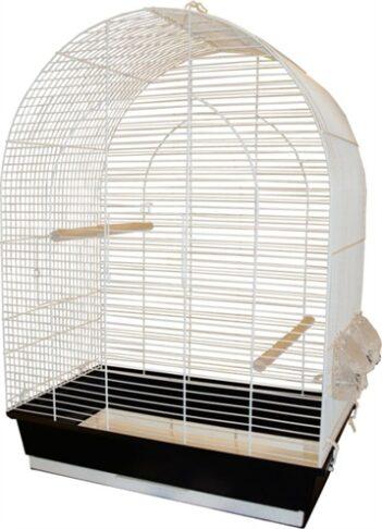 Vogelkooi big lucie wit/zwart (45X28X64 CM)