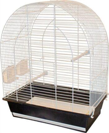 Vogelkooi lucie wit/zwart (45X28X56CM)