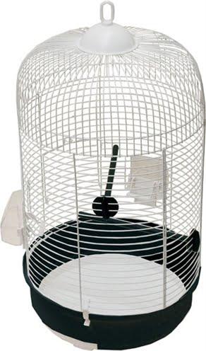 Zzzaz vogelkooi olga 3 wit/zwart (33 X 60 CM)