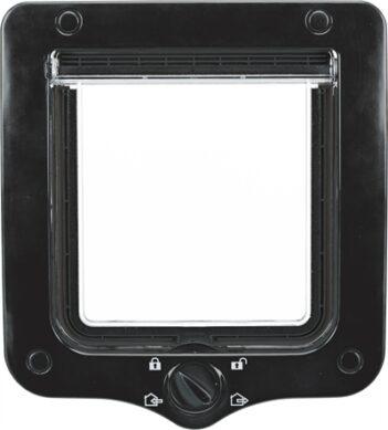 Trixie 4-weg kattenluik inclusief tunnelstuk zwart (20X22 CM)