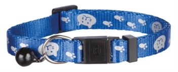 Trixie halsband kat safer life print kat / poot assorti