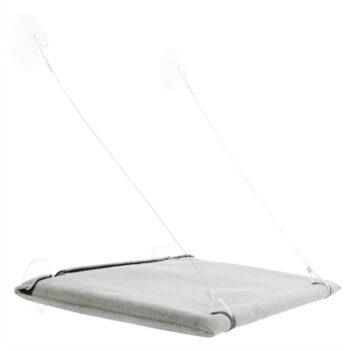 Trixie kattenmand hangmat raam velours grijs (50X30 CM)