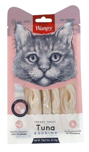 Wanpy creamy lickable treats tuna / shrimp (14 GR 5 ST)