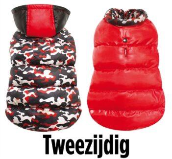 Croci hondenjas camouflage rood/zwart/wit (55 CM)