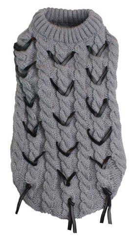 Croci kabeltrui grijs met zwarte veter (45 CM)