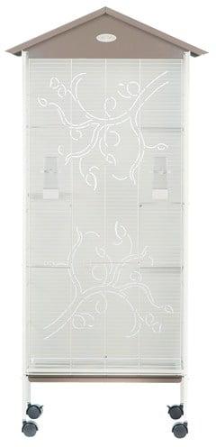 Zolux voliere axelle arabesq taupe (78X48X156 CM)