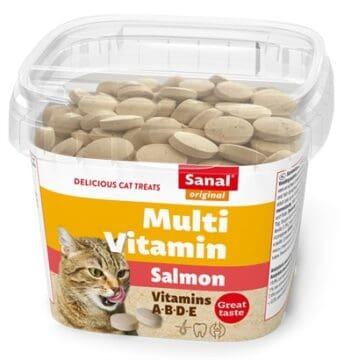 Sanal cat multi vitamin salmon snacks cup (100 GR)