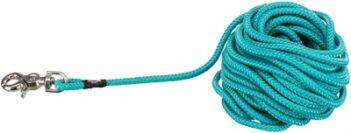 Trixie hondenriem sleeplijn rond met trigger snap haak oceaan blauw (10 MTRX0,6 CM)